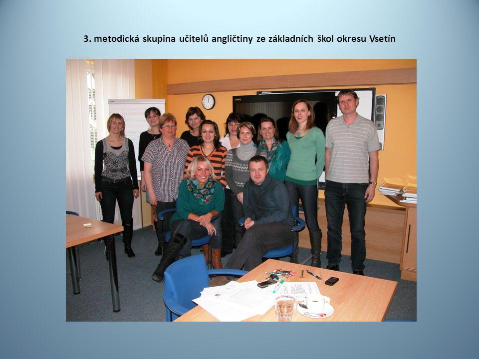 3. metodická skupina učitelů angličtiny ze základních škol okresu Vsetín