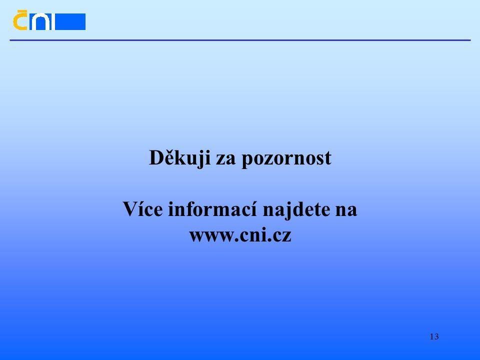 13 Děkuji za pozornost Více informací najdete na www.cni.cz