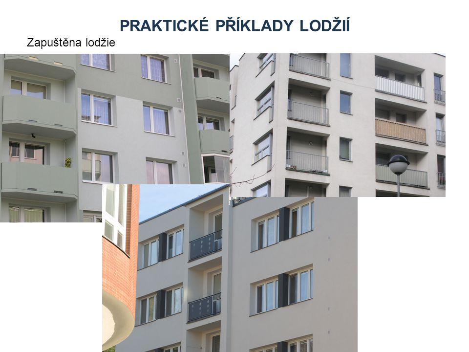 USTUPUJÍCÍ KONSTRUKCE Patří sem zejména: Ustupující konstrukce jsou specifické tím, že jednotlivá patra nebo jen některá, zpravidla poslední patro je o část nebo celý trakt ustoupeno za lícní stěnu.