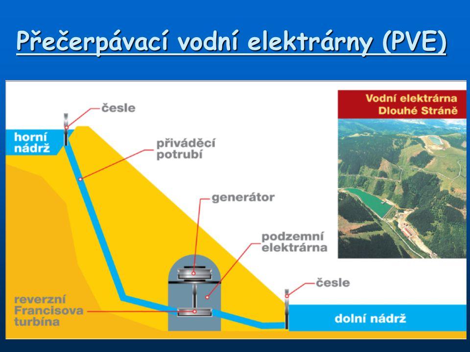 Přečerpávací vodní elektrárny (PVE)