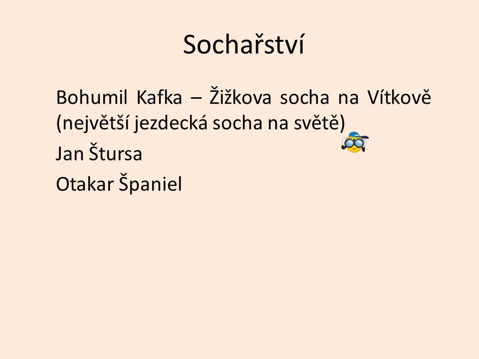 Sochařství Bohumil Kafka – Žižkova socha na Vítkově (největší jezdecká socha na světě) Jan Štursa Otakar Španiel
