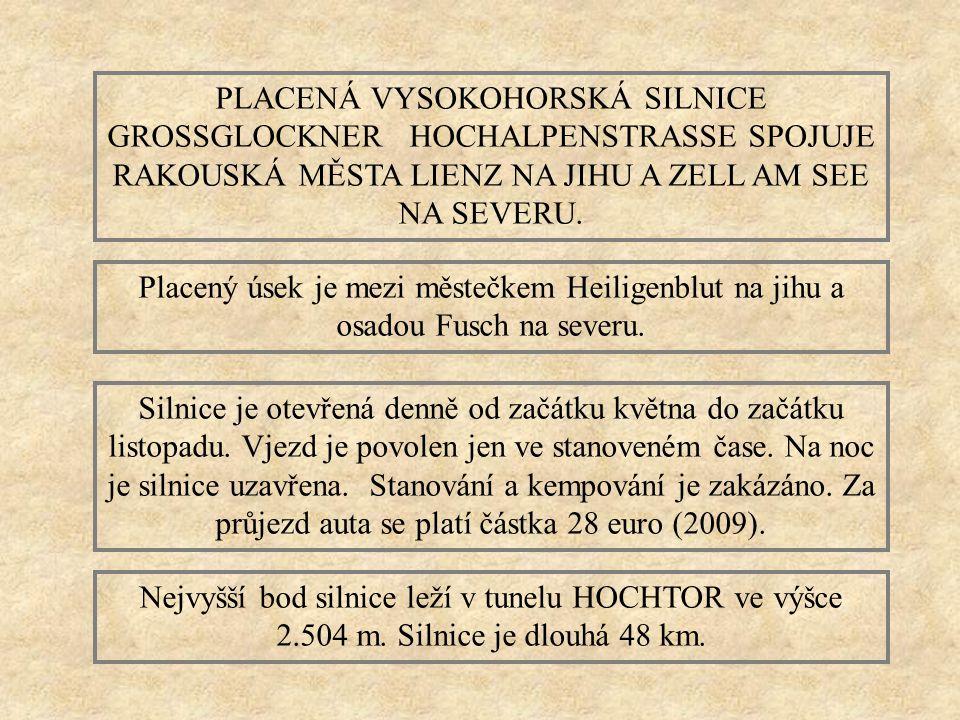GROSSGLOCKNER HOCHALPENSTRASSE