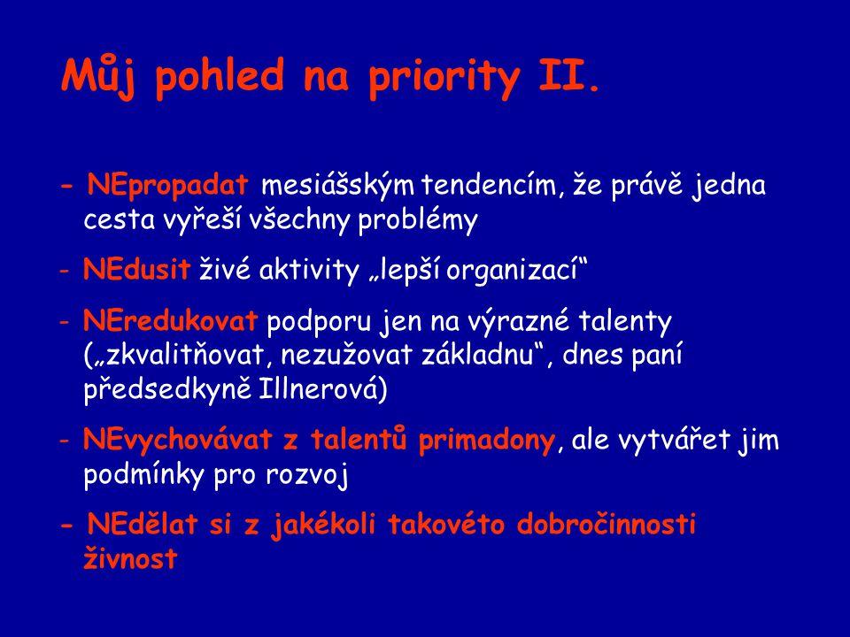 Můj pohled na priority II.