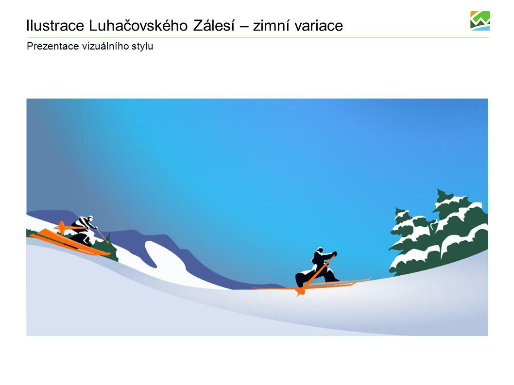 Prezentace vizuálního stylu Ilustrace Luhačovského Zálesí – zimní variace