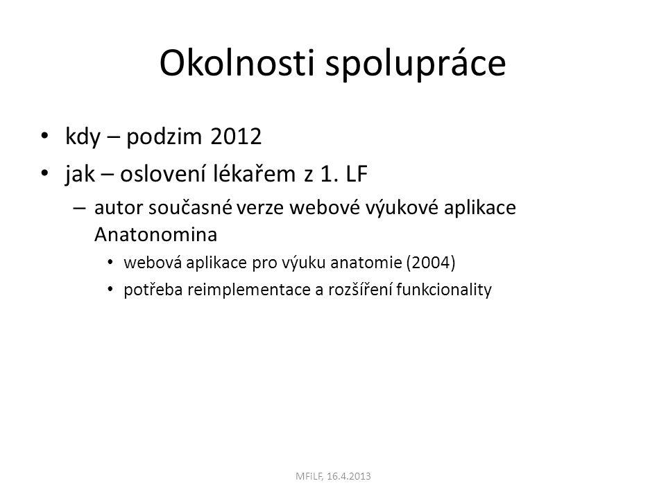Okolnosti spolupráce kdy – podzim 2012 jak – oslovení lékařem z 1.