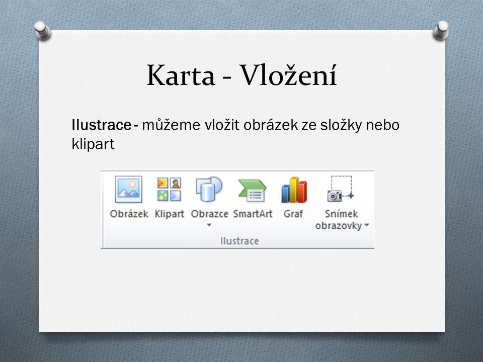 Karta - Vložení Ilustrace - můžeme vložit obrázek ze složky nebo klipart