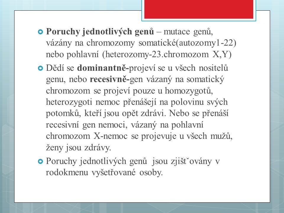 Obr.2: Karyotyp osoby trpící Downovým syndromem, všimněte si tří chromozómů č. 21chromozómů č. 21