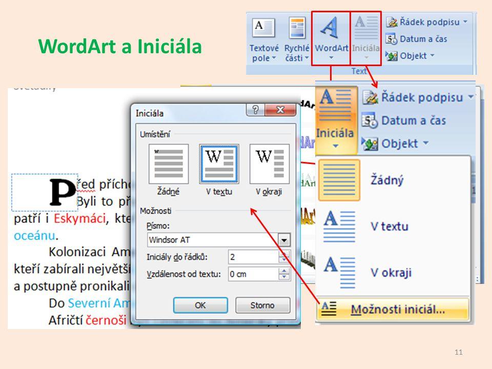 WordArt a Iniciála 11