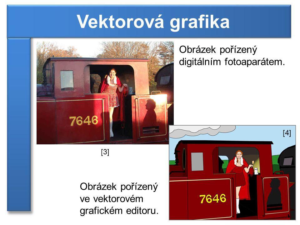 Obrázek pořízený digitálním fotoaparátem. Obrázek pořízený ve vektorovém grafickém editoru. [3] [4]