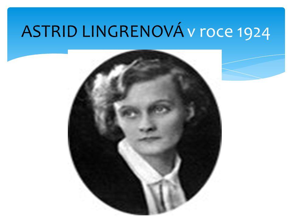 ASTRID LINGRENOVÁ v roce 1924