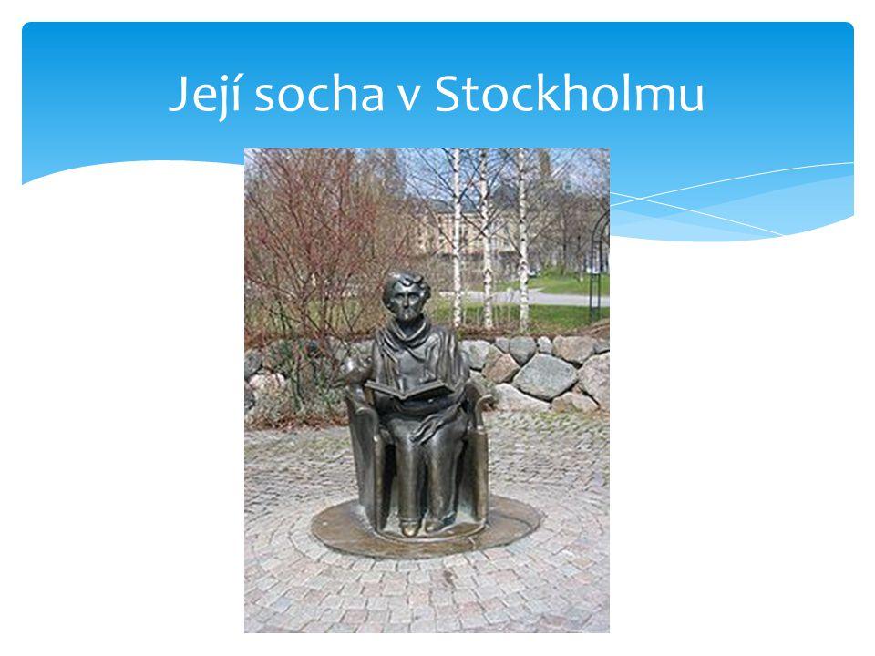 Její socha v Stockholmu