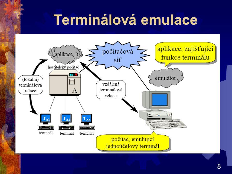 9 Izolované osobní počítače Tento model se uplatnil v okamžiku, kdy počítače zlevnily natolik, že každý uživatel mohl mít svůj PC Počítače nejsou vzájemně nijak propojeny Výhody vyšší komfort, nezávislost na ostatních.