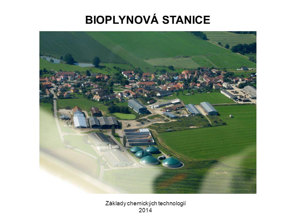 Základy chemických technologií 2014 BIOPLYNOVÁ STANICE