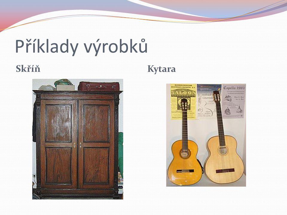 Příklady výrobků Skříň Kytara