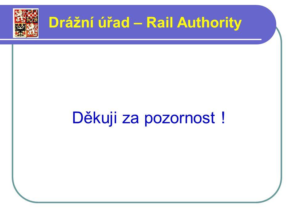 Děkuji za pozornost ! Drážní úřad – Rail Authority