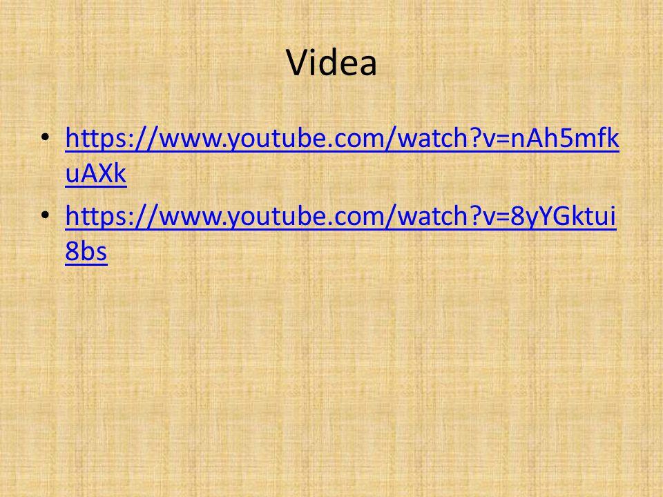 Videa https://www.youtube.com/watch?v=nAh5mfk uAXk https://www.youtube.com/watch?v=nAh5mfk uAXk https://www.youtube.com/watch?v=8yYGktui 8bs https://w
