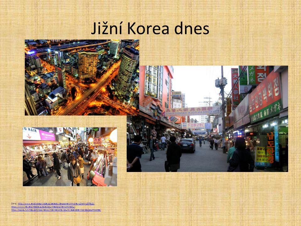 Jižní Korea dnes Zdroj: http://www.exotickapriroda.cz/zajezdy/za-poznanim-korey-10-dni-157612/, http://www.nejvetsimesta.cz/asie/soul-mesto-plne-kontr