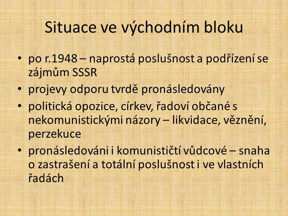 """Zdroj: http://commons.wikimedia.org/wiki/File:Eastn-bloc4.svghttp://commons.wikimedia.org/wiki/File:Eastn-bloc4.svg Východní """"sovětský blok Všimni si státu Jugoslávie."""
