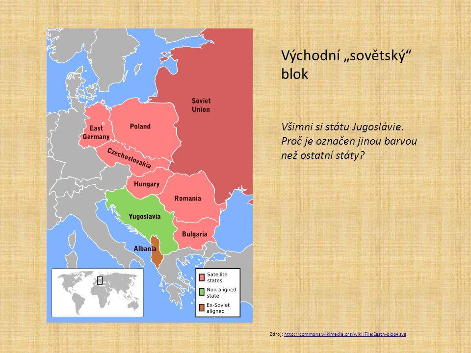 """Zdroj: http://commons.wikimedia.org/wiki/File:Eastn-bloc4.svghttp://commons.wikimedia.org/wiki/File:Eastn-bloc4.svg Východní """"sovětský"""" blok Všimni si"""