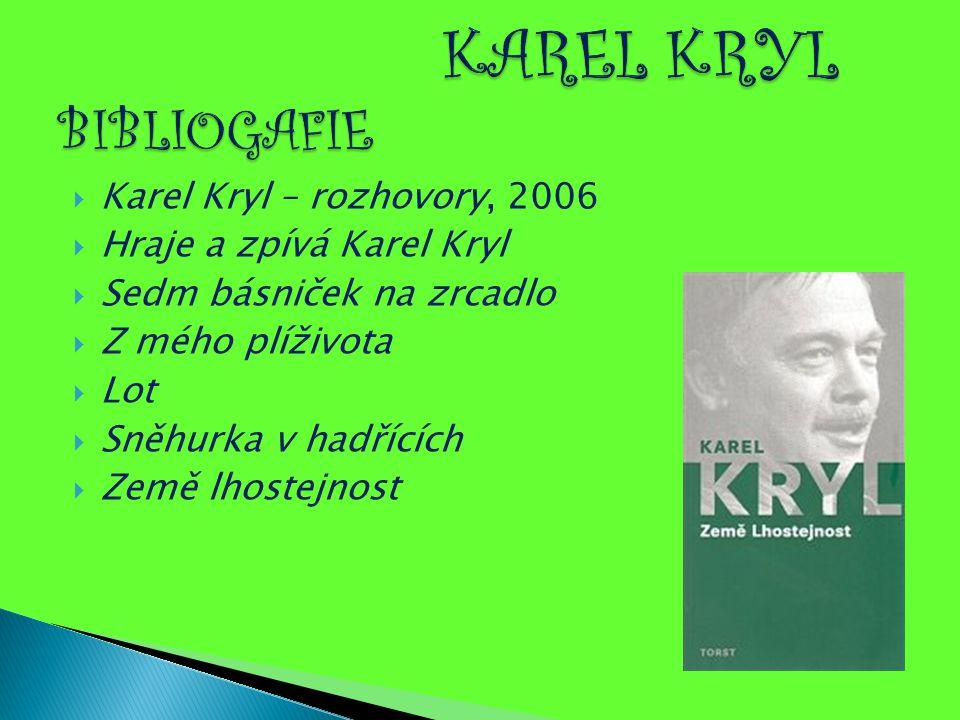  Karel Kryl – rozhovory, 2006  Hraje a zpívá Karel Kryl  Sedm básniček na zrcadlo  Z mého plíživota  Lot  Sněhurka v hadřících  Země lhostejnos