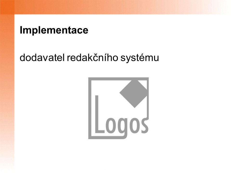 Implementace dodavatel redakčního systému