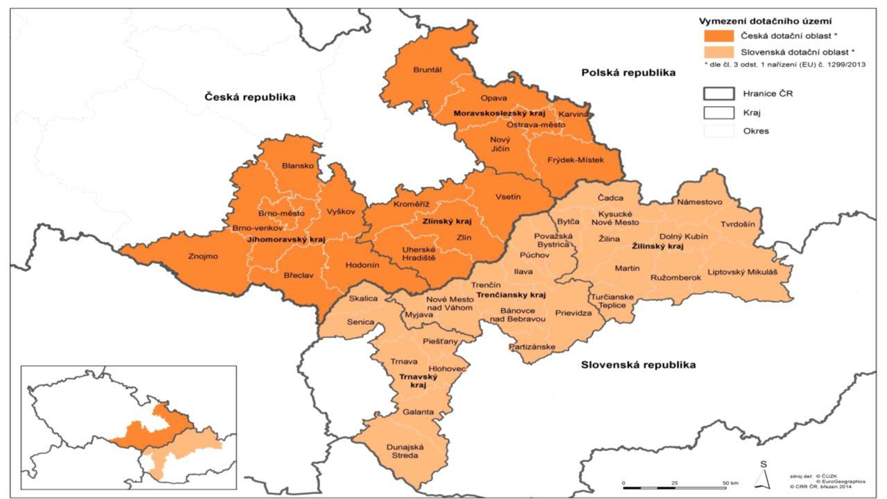 OP PŘESHRANIČNÍ SPOLUPRÁCE SLOVENSKÁ REPUBLIKA – ČESKÁ REPUBLIKA = INTERREG V STRUKTURA Prioritní osaAlokace EFRR 1 – Využívání inovačního potenciálu14,4 mil.
