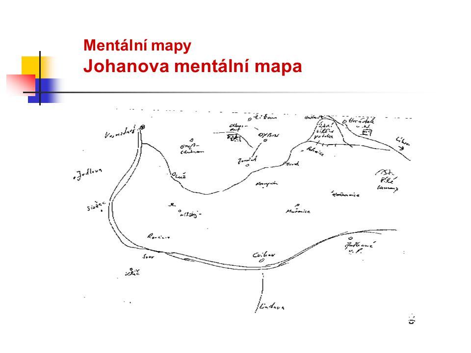 Mentální mapy Johanova mentální mapa