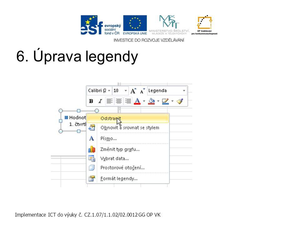 Implementace ICT do výuky č. CZ.1.07/1.1.02/02.0012 GG OP VK 6. Úprava legendy