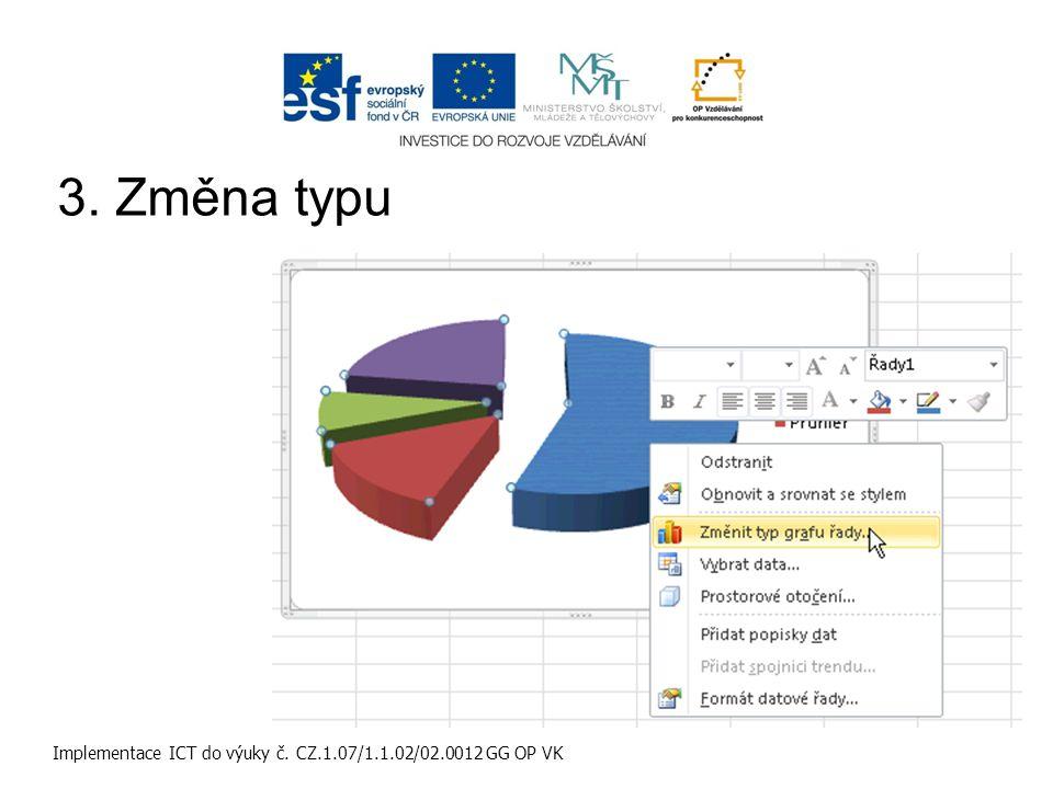 Implementace ICT do výuky č. CZ.1.07/1.1.02/02.0012 GG OP VK 3. Změna typu