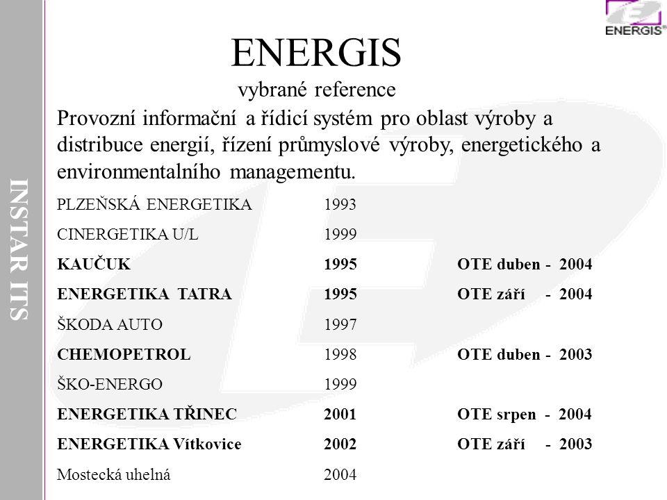 INSTAR ITS Provozní informační a řídicí systém pro oblast výroby a distribuce energií, řízení průmyslové výroby, energetického a environmentalního man