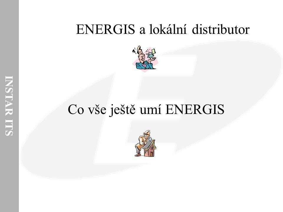 INSTAR ITS Hlavní funkce (z pohledu LDS a podpory procesu distribuce elektřiny) Sběr dat z fakturačních elektroměrů – uložení v datovém skladu IS ENERGIS Agregace do vyšších časových a bilančních úrovní – podle potřeb oprávněných zákazníků a požadavků OTE Odesílání dat do IS OTE, do IS nadřazeného REASu, na ERÚ Fakturace oprávněným zákazníkům za distribuci a dodávky energií