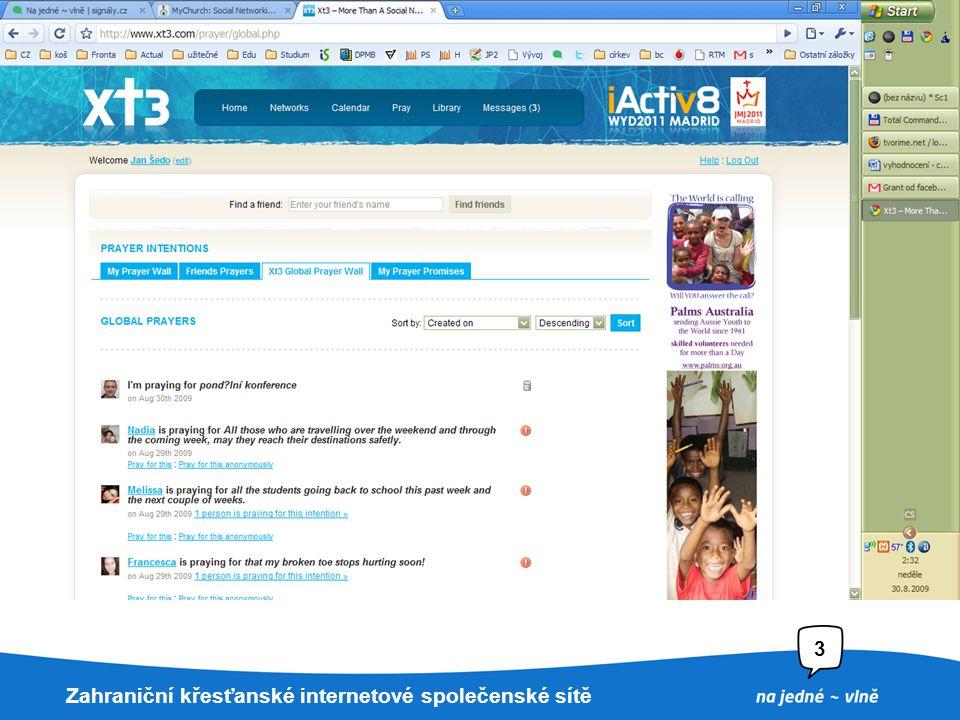 22. 7. 2009Nadpis prezentace3 Xt3.com Katolická síť Spuštěna při WYD2008 v Sydney Pouze anglicky –Austrálie –Kanada –USA Výborná redakce Dobrá odpověd