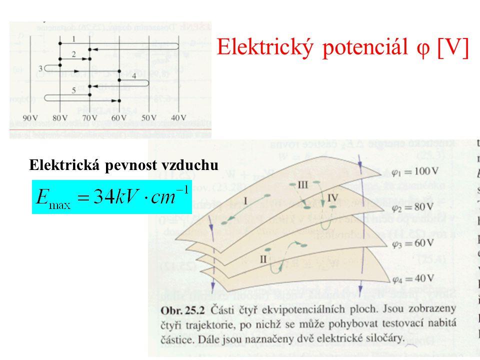 Elektrický potenciál φ [V] Elektrická pevnost vzduchu