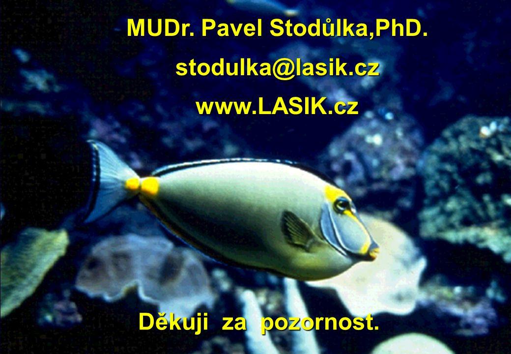 Děkuji za pozornost. Děkuji za pozornost. MUDr. Pavel Stodůlka,PhD. stodulka@lasik.cz www.LASIK.cz
