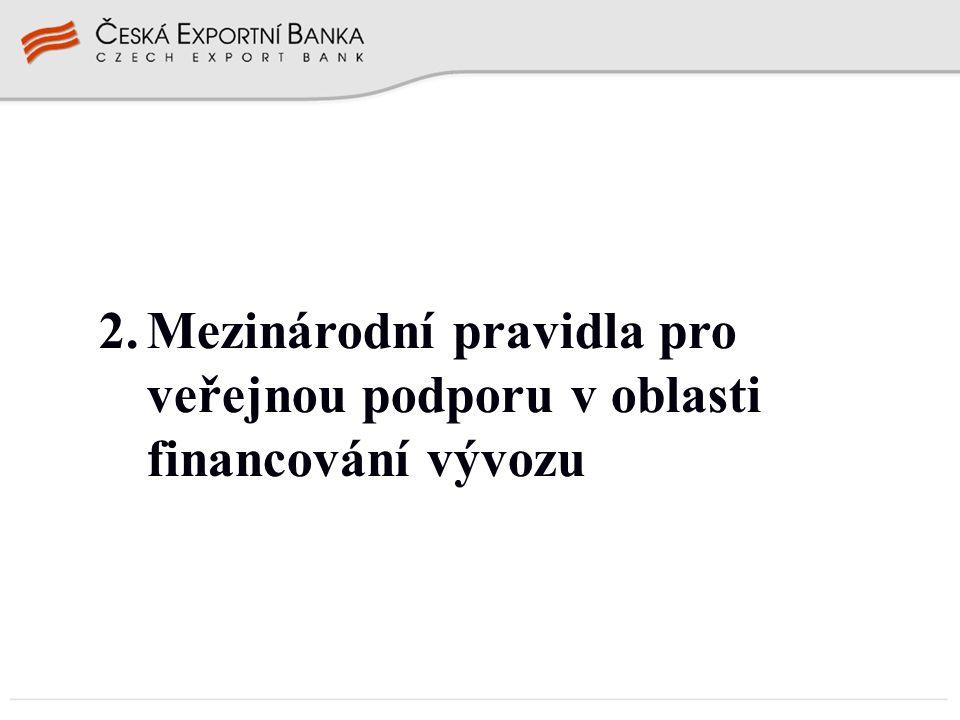 Mezinárodní pravidla financování vývozu Proč .Dohoda o zřízení WTO čl.