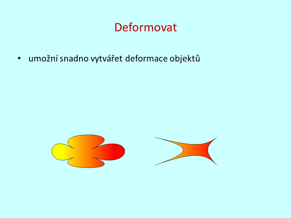 Deformovat umožní snadno vytvářet deformace objektů