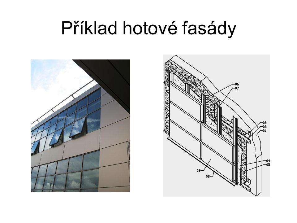 Příklad hotové fasády