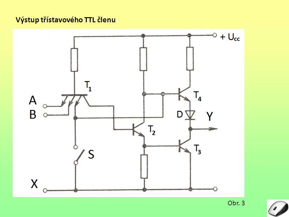 Výstup třístavového TTL členu Obr. 3