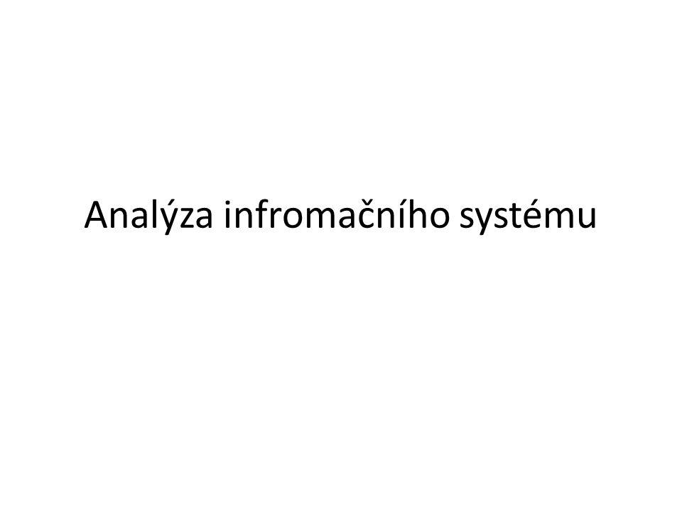 Analýza infromačního systému