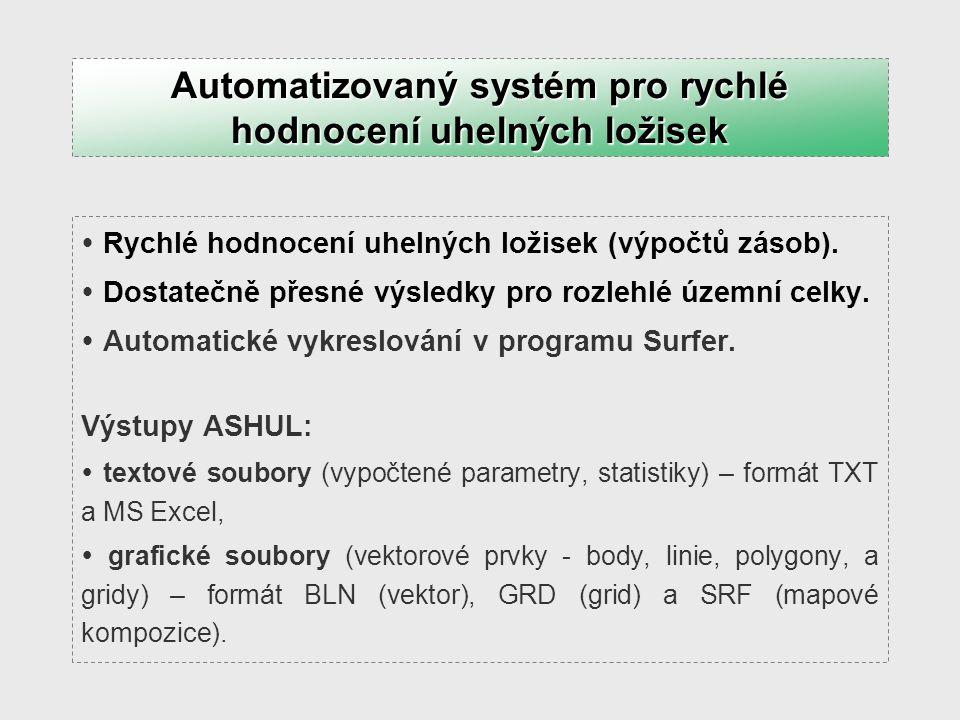 Zajištění automatizovaného převodu dat (vektorových prvků, gridů) z prostředí Surferu 8 do prostředí GIS (ArcView 3.2a) a připojení jejich atributů, s využitím programovacího jazyka Visual Basic 6.0.