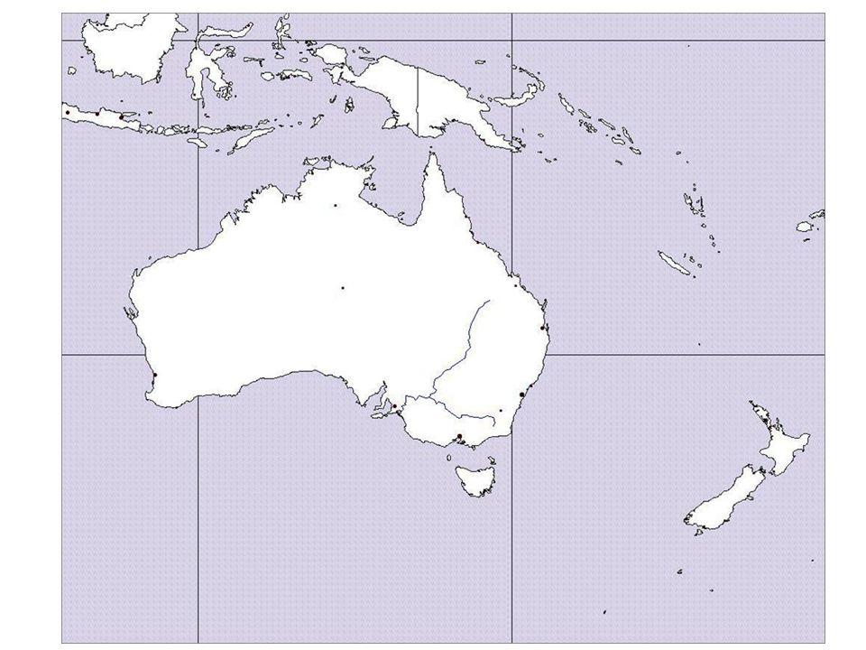 Do obrysové mapy Austrálie zakresli: Velké předělové pohoří Australské Alpy Austrálie připomíná tvarem svého povrchu Na JV Austrálie najdi a zakresli 2 řeky (nápověda Galdirn, Rymaru)