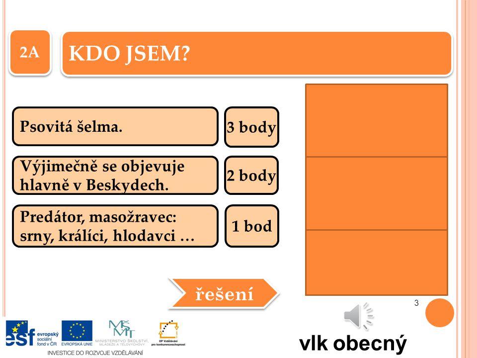 1B Největší evropská šelma.3 body Do českých lesů se zatoulává ze Slovenska.