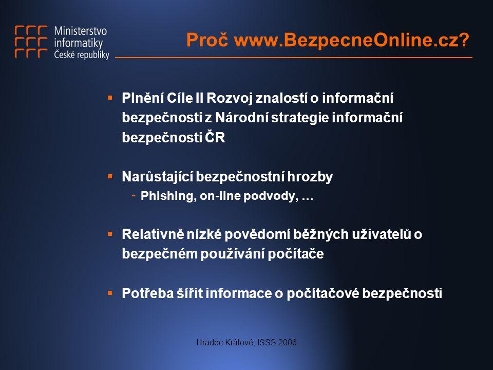 Hradec Králové, ISSS 2006 Proč www.BezpecneOnline.cz.
