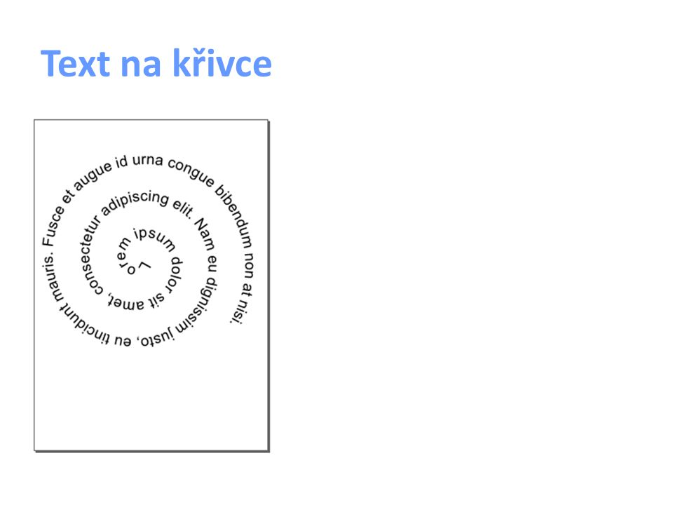 Text na křivce
