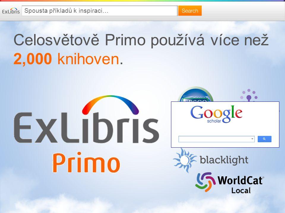 Celosvětově Primo používá více než 2,000 knihoven. Local Spousta příkladů k inspiraci…