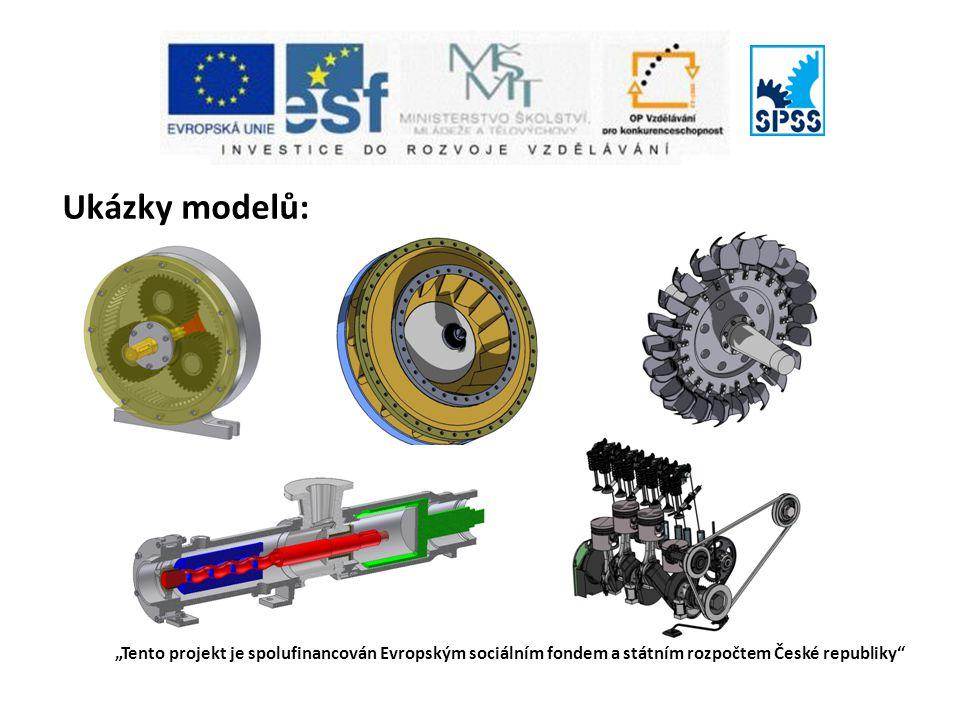 """Ukázky modelů: """"Tento projekt je spolufinancován Evropským sociálním fondem a státním rozpočtem České republiky"""