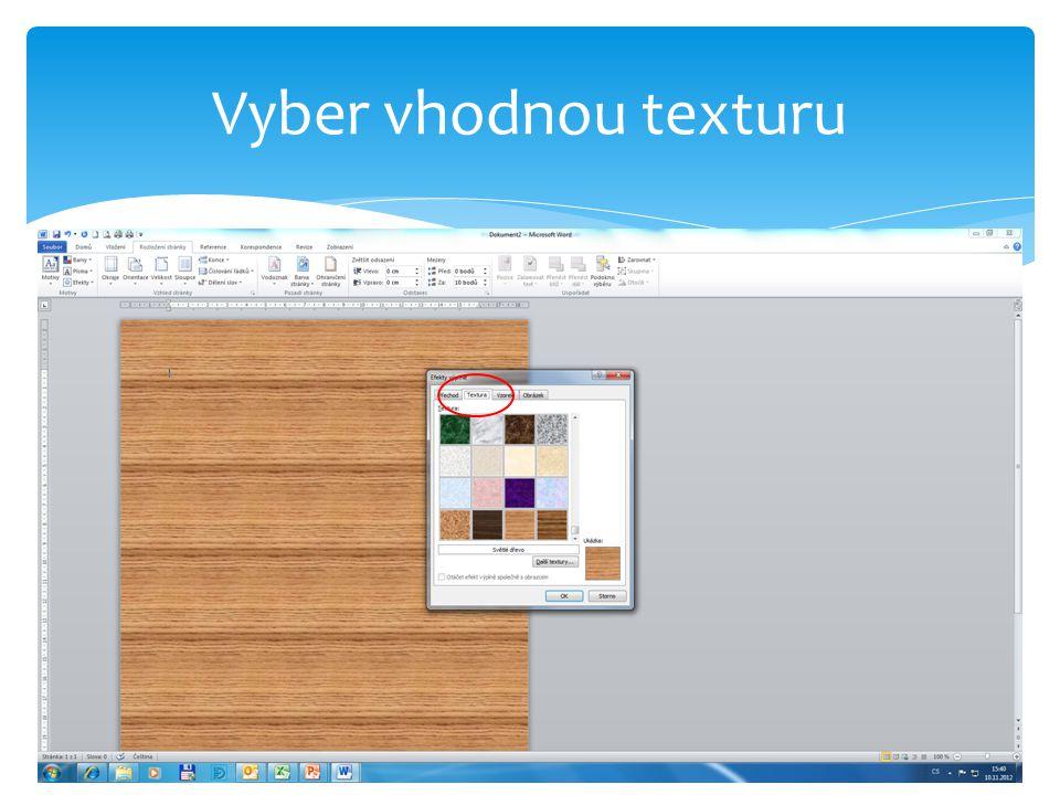 Vrať se k prvnímu dokumentu s názvem pokus.docx, označ slovo dýhu a nastav hypertextový odkaz na soubor dýha.docx