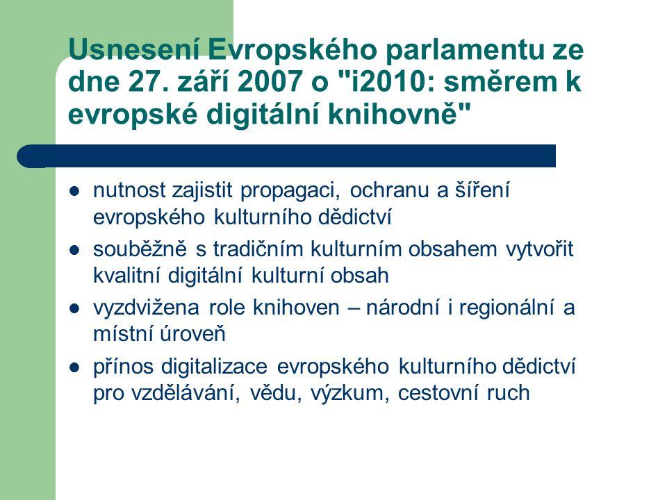 Usnesení Evropského parlamentu ze dne 27. září 2007 o