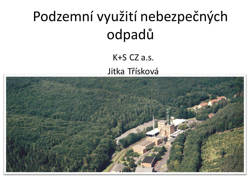 Podzemní využití nebezpečných odpadů K+S CZ a.s. Jitka Třísková