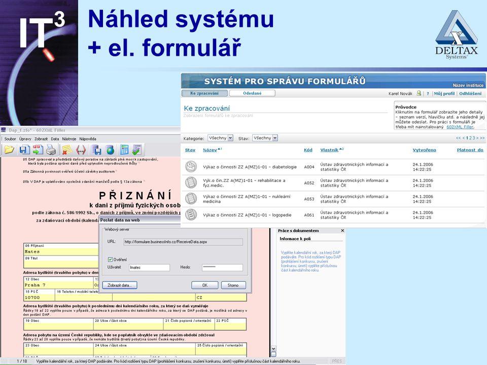špička v každém směru IT 3 Náhled systému + el. formulář